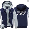 PILOTSX HOODIES Blue / S The 747 Zipper Sweaters