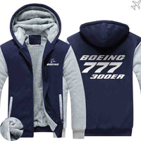 PILOTSX HOODIES Blue / S The 777 300ER Zipper Sweaters