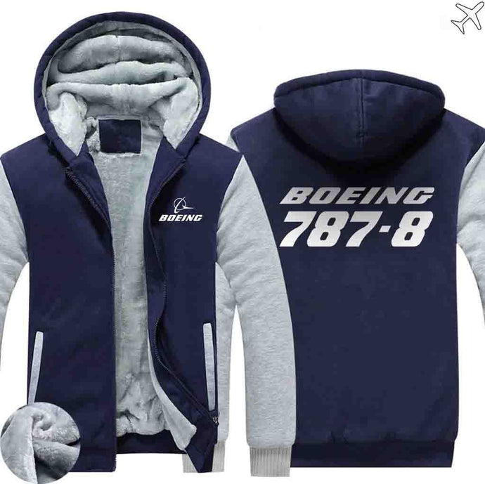 PILOTSX HOODIES Blue / S The 787-8 Zipper Sweaters