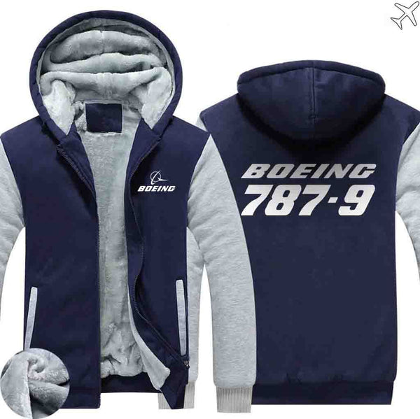 PILOTSX HOODIES Blue / S The 787-9 Zipper Sweaters