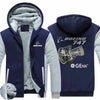 PILOTSX HOODIES Blue / S The GEnx B747 Zipper Sweaters
