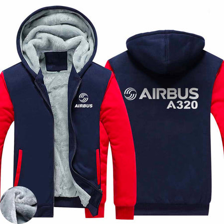 PILOTSX HOODIES Black / S Airbus A320 Zipper Sweaters