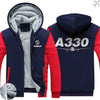 PILOTSX HOODIES Red / S Airbus A330 Zipper Sweaters