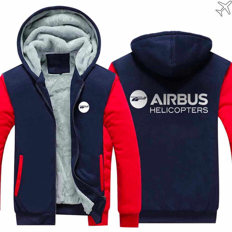 PILOTSX HOODIES Red / S Airbus Helicopter Zipper Sweaters