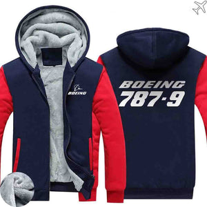 PILOTSX HOODIES Red / S The 787-9 Zipper Sweaters