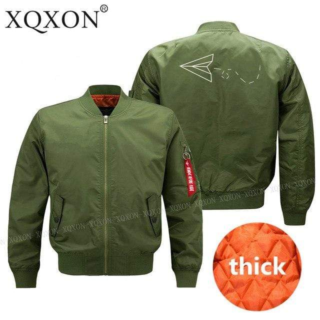 PilotsX Jacket Army green thick / S Aviator Paper Airplane Dreams Jacket -US Size