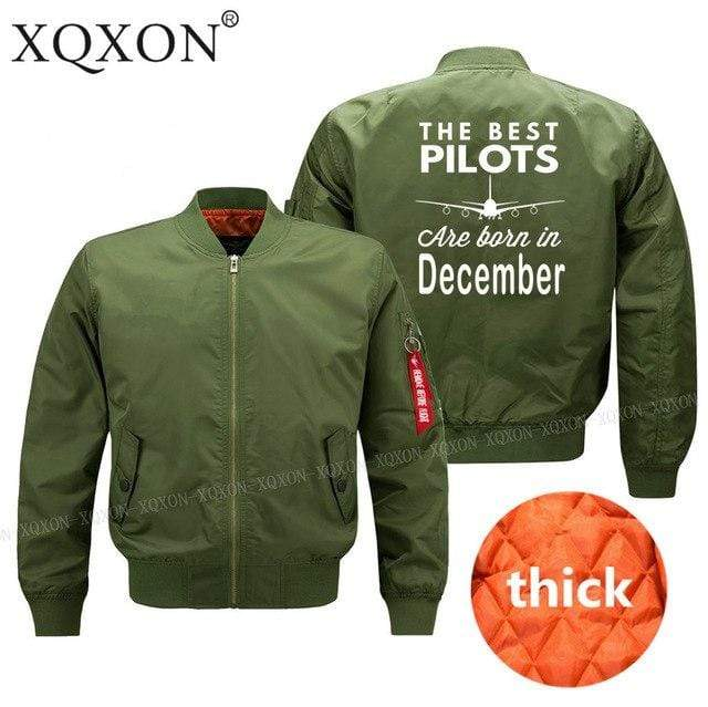 PilotsX Jacket Army green thick / S Best pilots are born in December Jacket -US Size