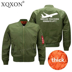 PilotsX Jacket Army green thick / S Bro, Do You Even Generate Lift? Jacket -US Size