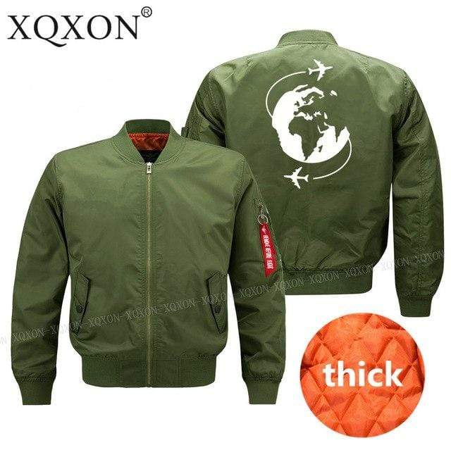 PILOTSX Jacket Army green thick / S Fly around the world Jacket -US Size