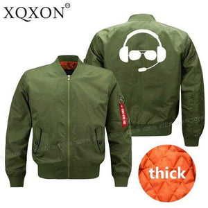 PilotsX Jacket Army green thick / S Great pilot helmet Jacket -US Size