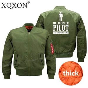 PilotsX Jacket Army green thick / S Helicopter pilot Jacket -US Size