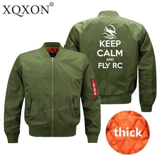 PilotsX Jacket Army green thick / S Keep calm and Fly RC Jacket -US Size