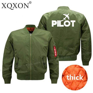 PILOTSX Jacket Army green thick / S Pilot plane Jacket -US Size