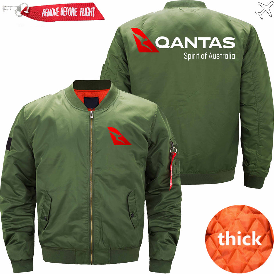 PilotsX Jacket Army green thick / S Qantas Airways Jacket -US Size