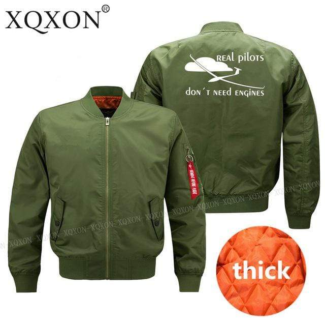 PilotsX Jacket Army green thick / S Real pilots don't need engines Jacket -US Size