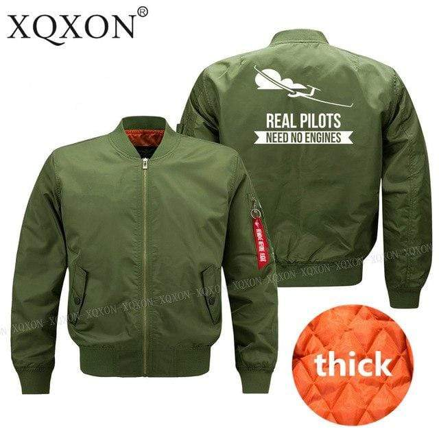PILOTSX Jacket Army green thick / S Real Pilots Need No Engines Jacket -US Size