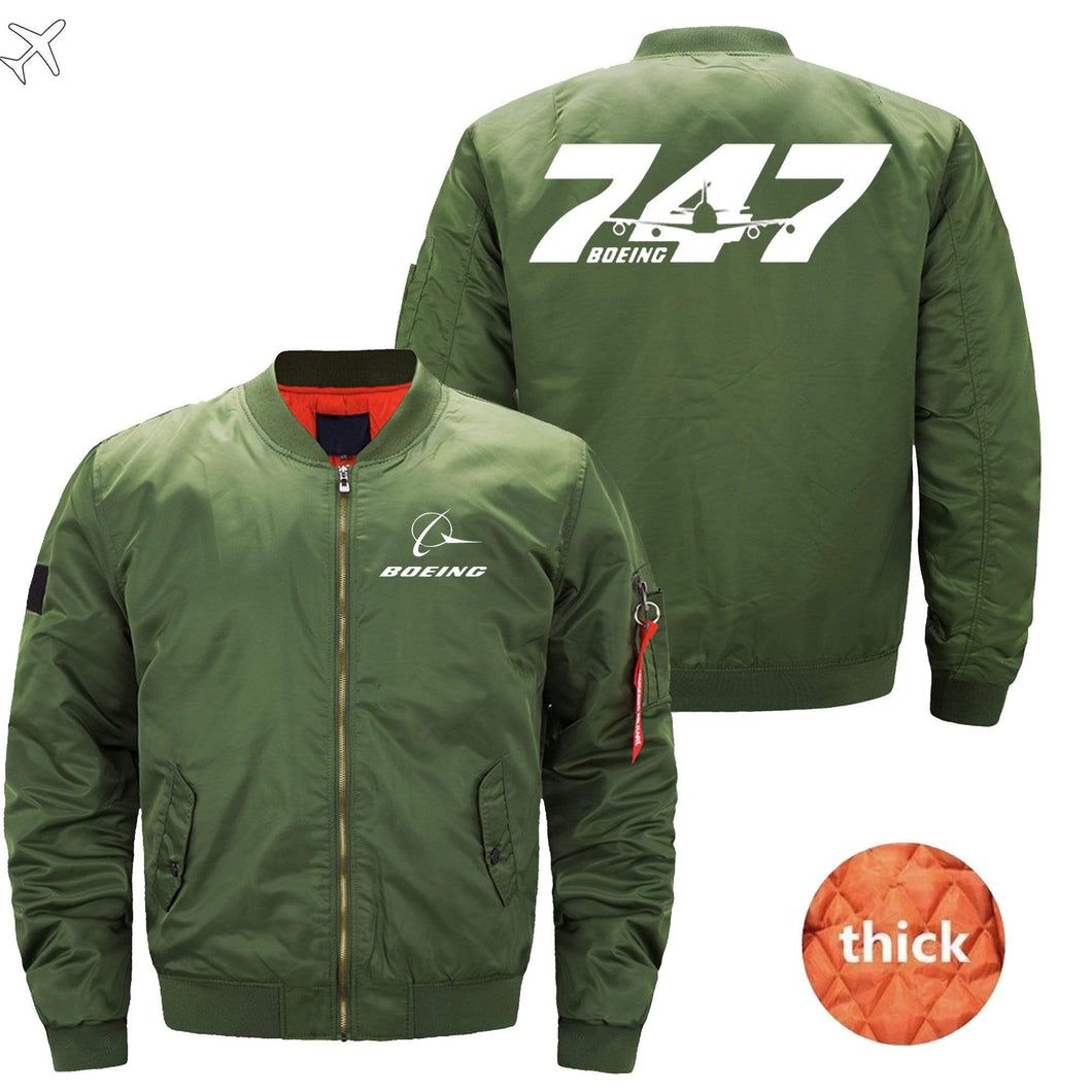 PilotsX Jacket Army green thick / S The B 747 Jacket -US Size