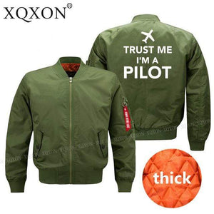 PILOTSX Jacket Army green thick / S Trust me l am a pilot Jacket -US Size