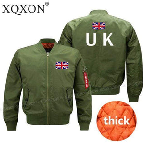 PILOTSX Jacket Army green thick / S United Kingdom flag Jacket -US Size