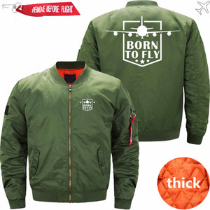 PILOTSX Jacket Army green thick / S (US XXS) Born to fly Jacket -US Size