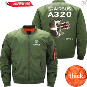 PilotsX Jacket Army green thick / XS Airbus A320 cfm 56 Jacket -US Size