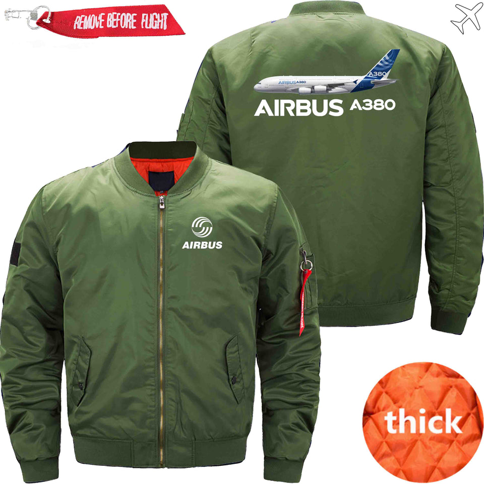 PilotsX Jacket Army green thick / XS Airbus A380 Jacket -US Size