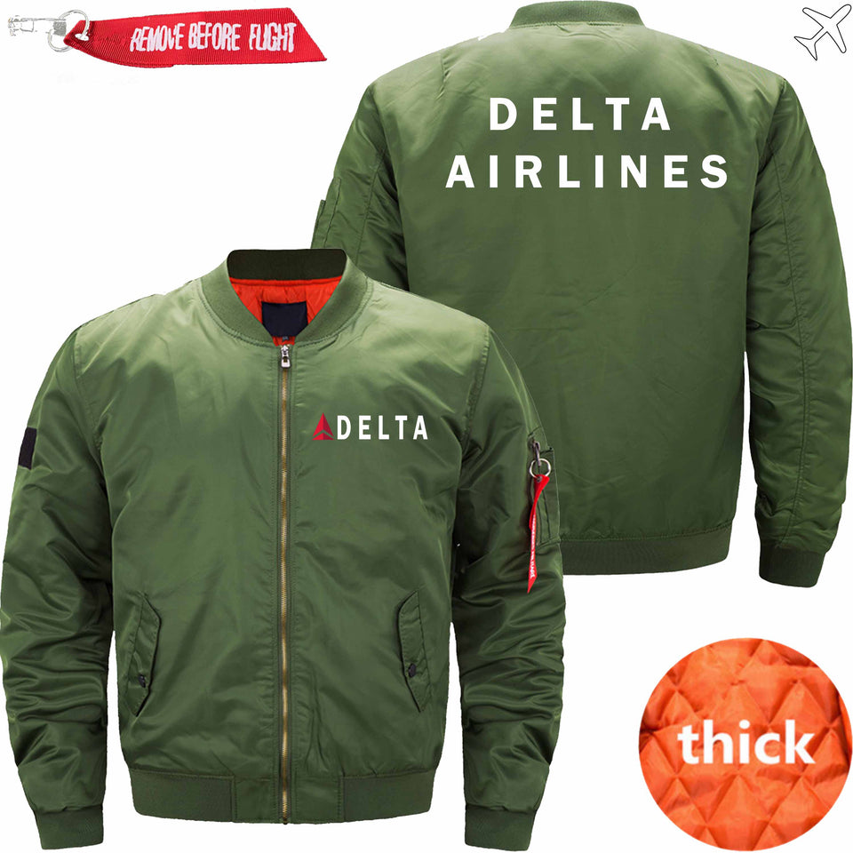 PilotsX Jacket Army green thick / XS Delta Air Lines Jacket -US Size
