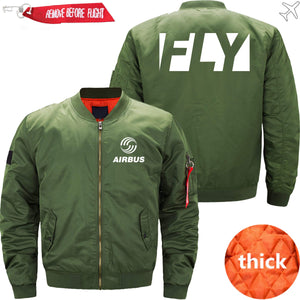 PilotsX Jacket Army green thick / XS Fly Airbus Jacket -US Size