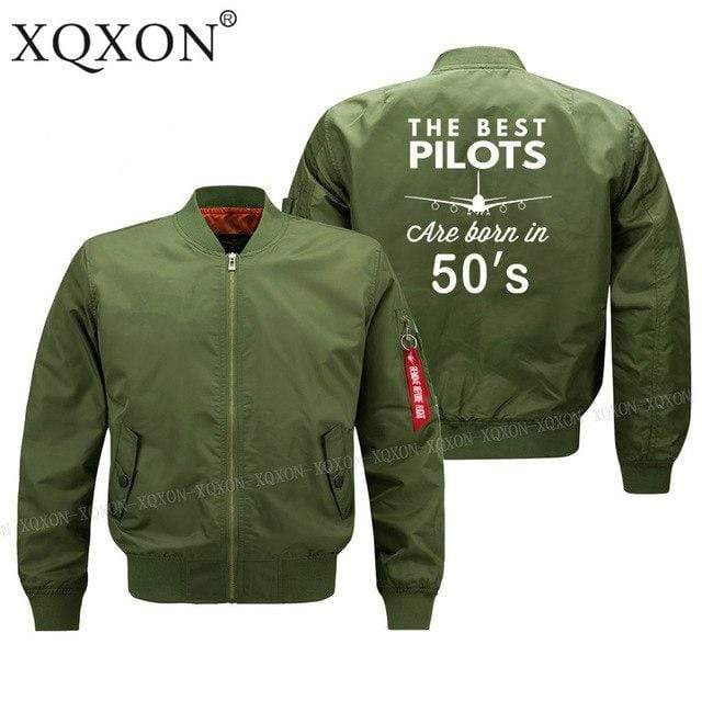 PILOTSX Jacket Army green thin / S Best pilots are born in 50's Jacket -US Size