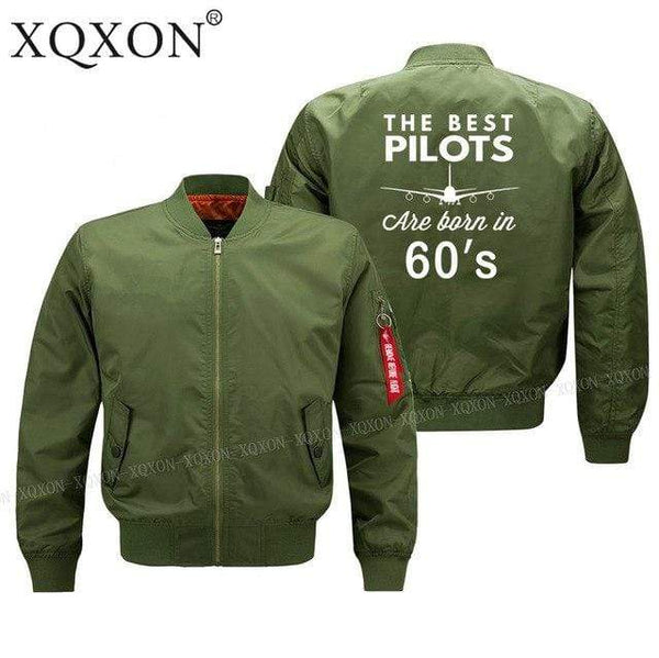 PILOTSX Jacket Black thin / S Best pilots are born in 60's Jacket -US Size