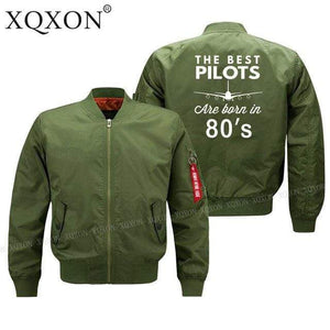 PILOTSX Jacket Army green thin / S Best pilots are born in 80's Jacket -US Size