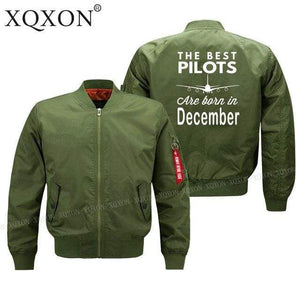 PilotsX Jacket Army green thin / S Best pilots are born in December Jacket -US Size