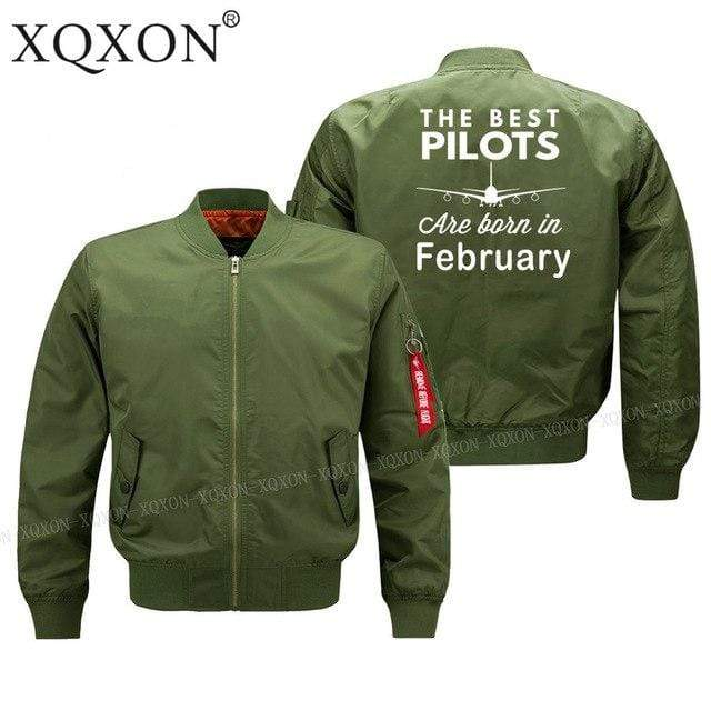 PilotsX Jacket Army green thin / S Best pilots are born in February Jacket -US Size