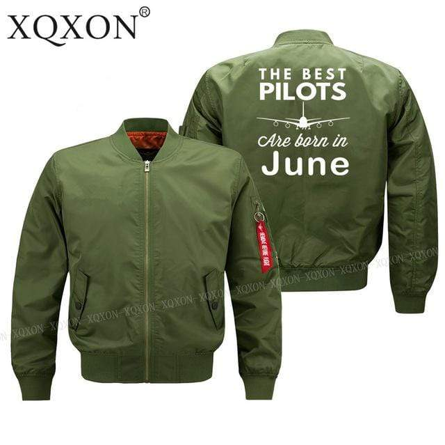 PILOTSX Jacket Army green thin / S Best pilots are born in June Jacket -US Size