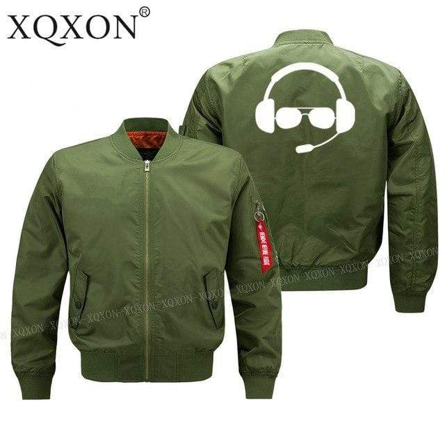PilotsX Jacket Army green thin / S Great pilot helmet Jacket -US Size