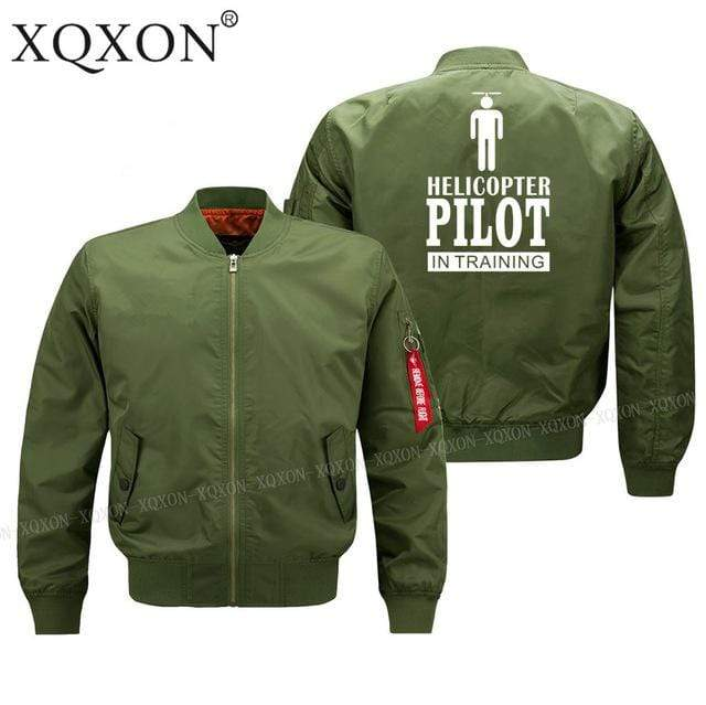 PilotsX Jacket Army green thin / S Helicopter pilot Jacket -US Size