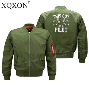 PilotsX Jacket Army green thin / S his guy is a pilot Jacket -US Size