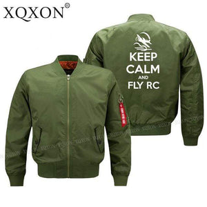 PilotsX Jacket Army green thin / S Keep calm and Fly RC Jacket -US Size