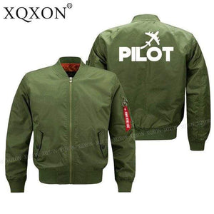 PILOTSX Jacket Army green thin / S Pilot plane Jacket -US Size