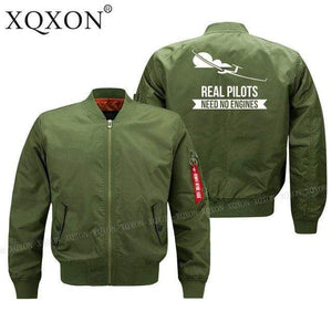 PILOTSX Jacket Army green thin / S Real Pilots Need No Engines Jacket -US Size