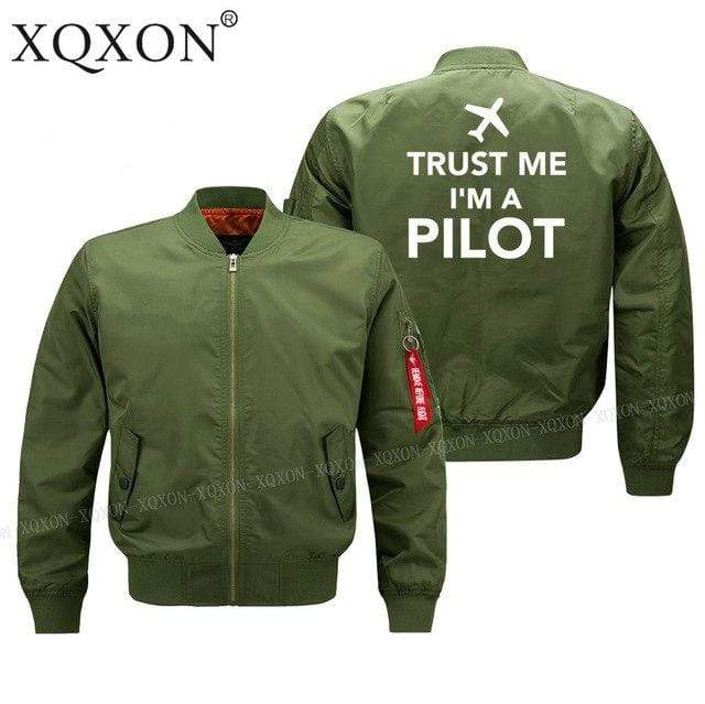 PILOTSX Jacket Army green thin / S Trust me l am a pilot Jacket -US Size