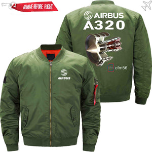 PilotsX Jacket Army green thin / XS Airbus A320 cfm 56 Jacket -US Size
