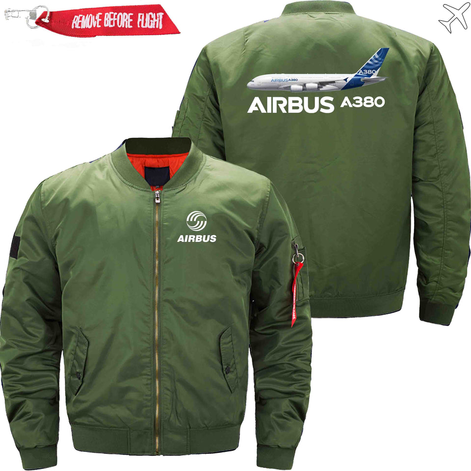 PilotsX Jacket Army green thin / XS Airbus A380 Jacket -US Size