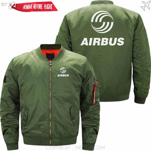 PilotsX Jacket Army green thin / XS Airbus Logo Jacket -US Size