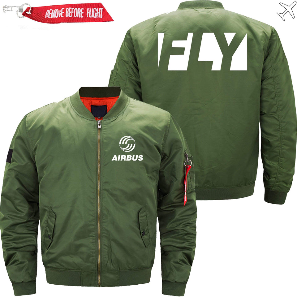 PilotsX Jacket Army green thin / XS Fly Airbus Jacket -US Size