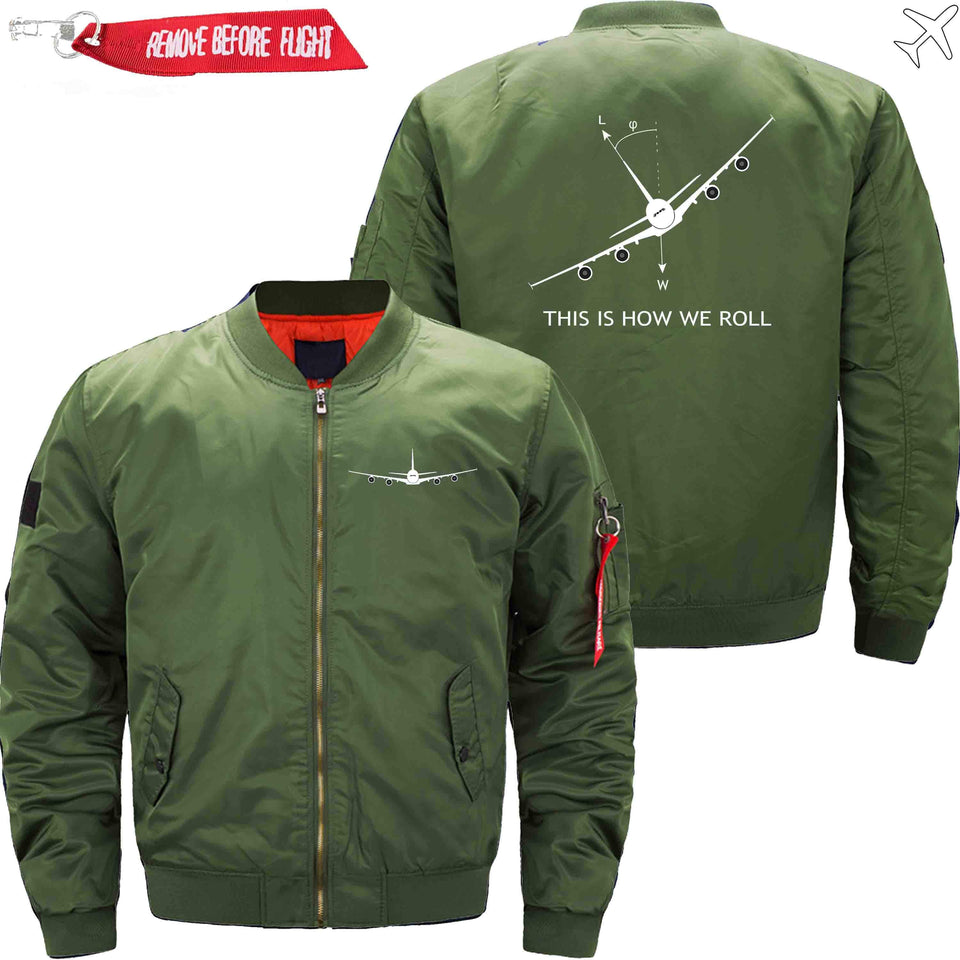 PilotsX Jacket Army green thin / XS THIS IS HOW WE ROLL Jacket -US Size