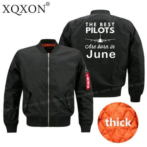 PILOTSX Jacket Black thick / S Best pilots are born in June Jacket -US Size