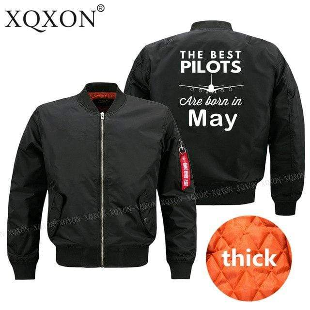PilotsX Jacket Black thick / S Best pilots are born in May Jacket -US Size