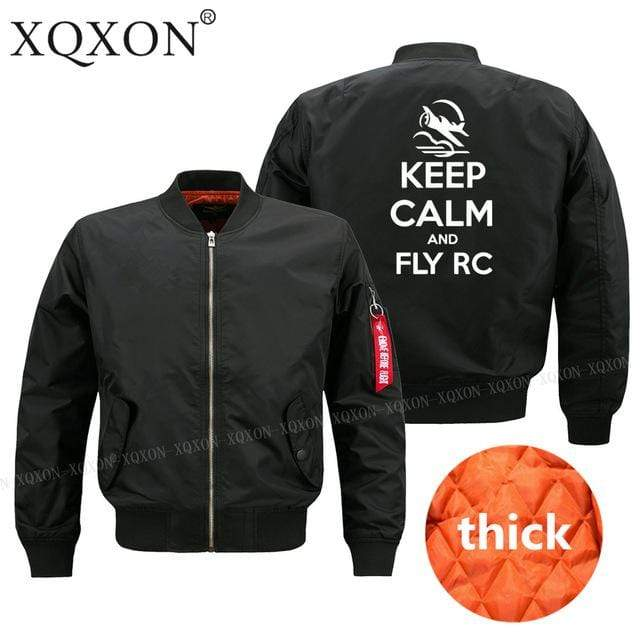 PilotsX Jacket Black thick / S Keep calm and Fly RC Jacket -US Size