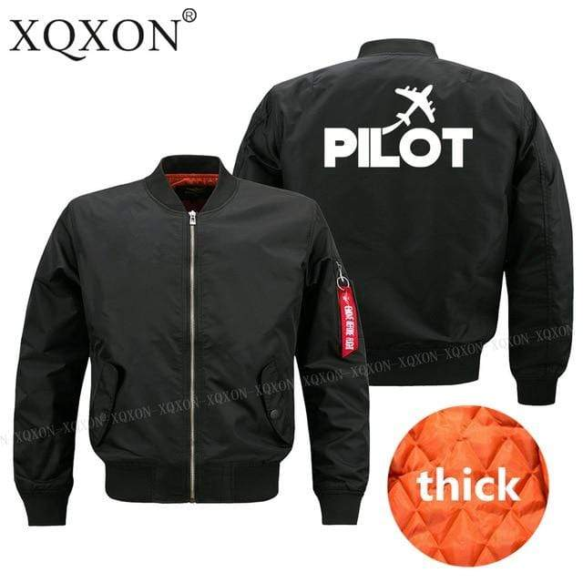 PILOTSX Jacket Black thick / S Pilot plane Jacket -US Size